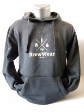 BrewWear Hoodie Grey MEDIUM